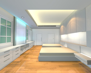ineterior design bedroom white theme