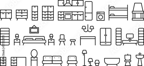 Furniture stock image and royalty free vector files on for Mobilia domestica