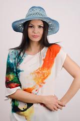 Beautiful woman wearing a hat