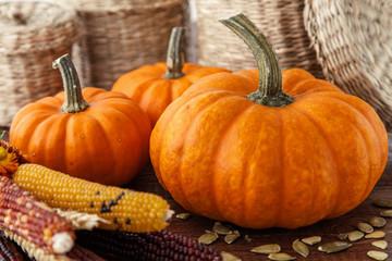 Fotoväggar - Fresh beautiful pumpkins