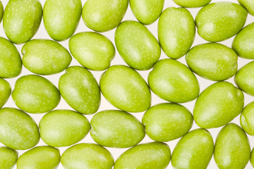Green olives texture background