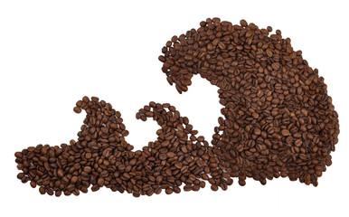 цунами из зерен кофе