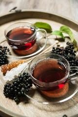 Fototapete - Frischer Holunder-Tee