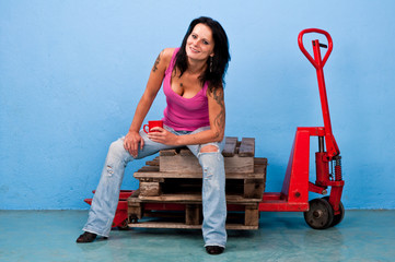 work tattoo woman
