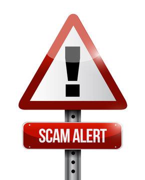 warning scam alert road sign illustration design