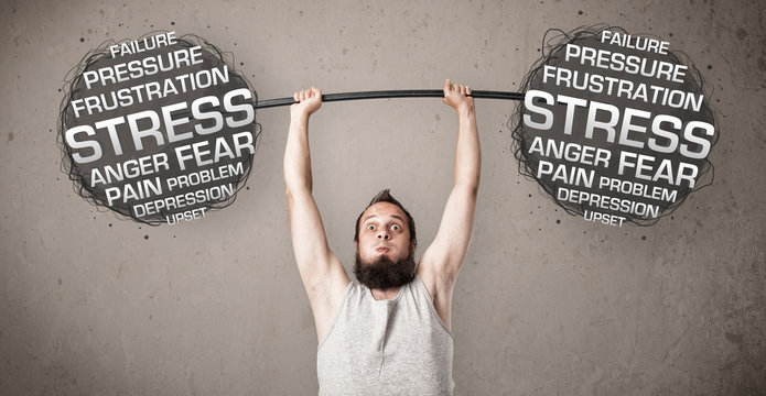 skinny guy defeating stress