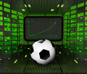 business positive graph forecast or results of sport industry