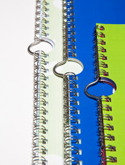 Spiral binding with hanger