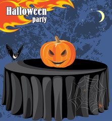 Abstract Halloween party background