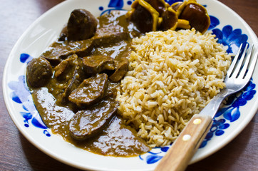 Delicious kidney stew
