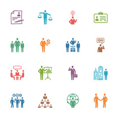 Management and Human Resource Icons - Colored Series