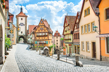 Wall Mural - Medieval town of Rothenburg ob der Tauber, Bavaria, Germany