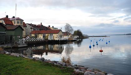 view of the lake in Västervik, Sweden, Scandinavia