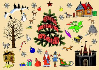 Big Christmas game card set
