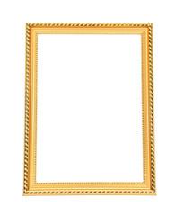 Golden frame, isolated on white