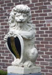 Portrait of a stone lion