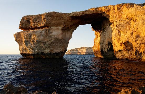 Azure window - rock formation over sea
