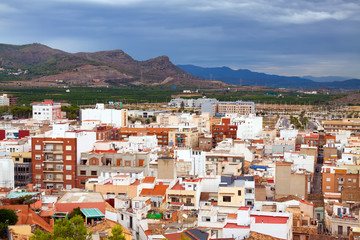 Ordinary spanish town in summer day. Sagunto