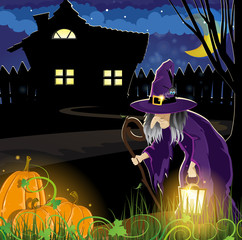 Witch near the house