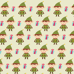 elf christmas pattern