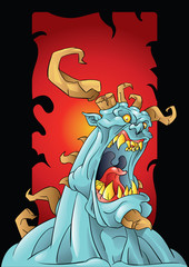 monster with horns background