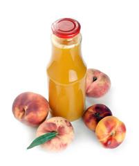 peach juice in a bottle