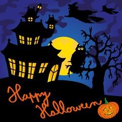 Blue spooky house 02