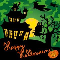 Green spooky house 02