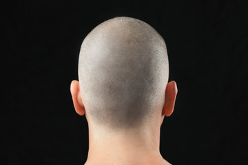 Buddhist Shaved Head, From Behind Wall mural