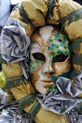 Beautiful mask at Carnival in Venice