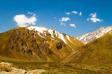 Cajon del Maipo canyon and Embalse El Yeso, Andes, Chile