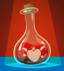 Love potion. Vector illustration.