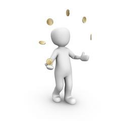 Currency juggler 50 cent