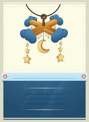 Vector Illustration Of a Baby Shower invitation Card