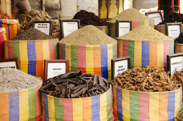 spices in market of cairo egypt