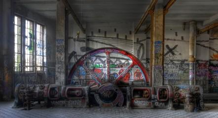 Wall Mural - Alte Dampfmaschine