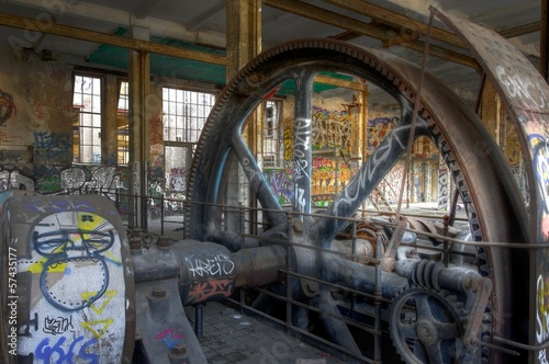 Wall mural Steam engine