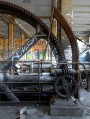 Wall Mural - Old steam engine