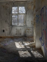 Abandoned room with a window