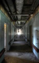 Wall Mural - Corridor in a old hospital