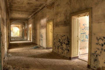 Wall Mural - Old corridor in a Lost Place