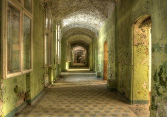 Wall Mural - Corridor in the sanatorium in beelitz