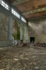 Wall Mural - Old abandond hall