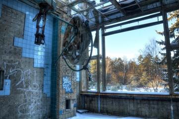 Keuken foto achterwand Oud Ziekenhuis Beelitz Abandoned operation hall in beelitz