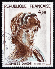 Postage stamp France 1982 Young Greek Soldier, Hellenic Sculptur