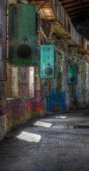 Wall Mural - Old ventilation in Abandoned Hall