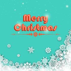 Snowflakes Christmas Background