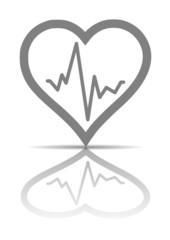 Herz mit Puls