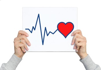 Schild Herz Puls