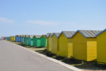 beach huts at the seaside